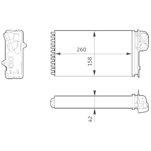 Heat Exchanger, interior heating MAHLE AH 162 000S RENAULT RENAULT TRUCKS