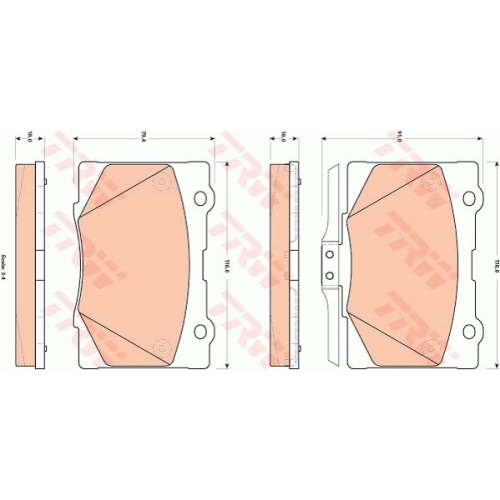 Brake Pad Set, disc brake TRW GDB3498 HONDA