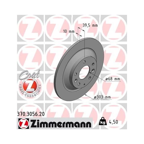 ZIMMERMANN Brake Disc 370.3056.20
