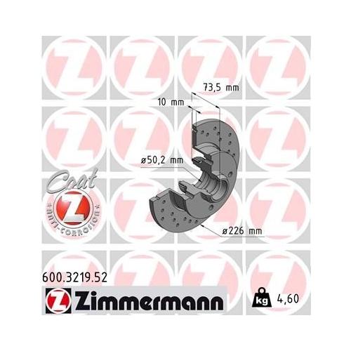 ZIMMERMANN Brake Disc 600.3219.52