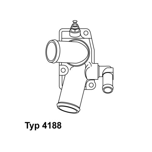 Thermostat, coolant BorgWarner (Wahler) 4188.92D OPEL VAUXHALL GENERAL MOTORS
