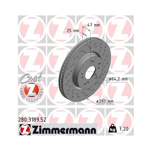 ZIMMERMANN Brake Disc 280.3189.52