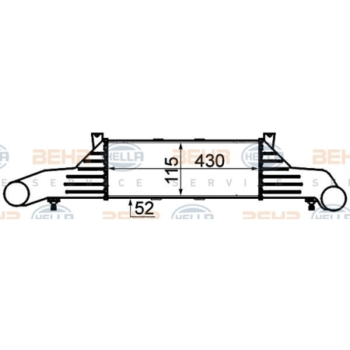 Ladeluftkühler HELLA 8ML 376 723-031 MERCEDES-BENZ