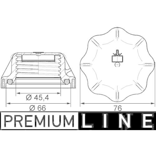 Sealing Cap, coolant tank MAHLE CRB 20 000P BEHR *** PREMIUM LINE *** IVECO MAN