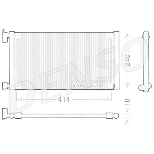 DENSO Kondensator, Klimaanlage DCN09120