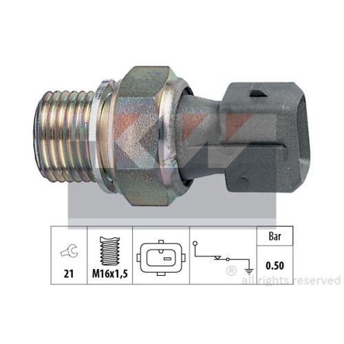 Oil Pressure Switch KW 500 116 Made in Italy - OE Equivalent CITROËN FIAT LANCIA