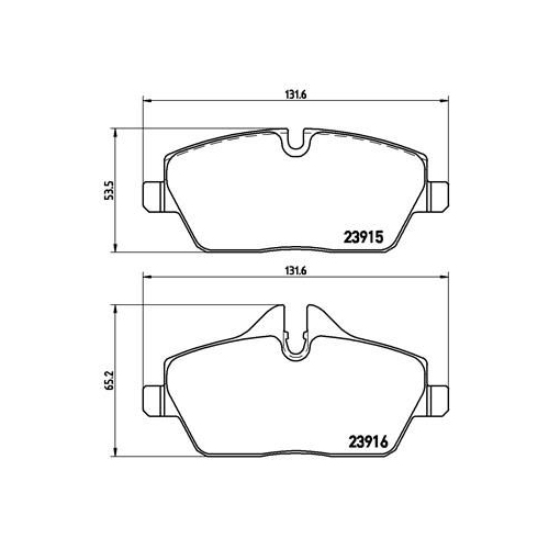 Brake Pad Set, disc brake BREMBO P 06 034 BMW MINI