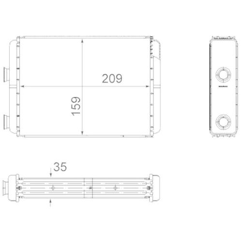 Heat Exchanger, interior heating MAHLE AH 60 000S FIAT