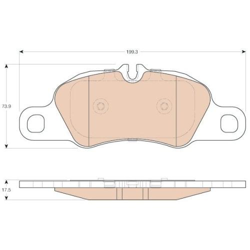 Brake Pad Set, disc brake TRW GDB1990 PORSCHE