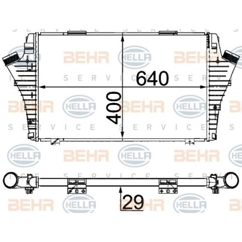 Ladeluftkühler HELLA 8ML 376 700-724 FIAT OPEL VAUXHALL GENERAL MOTORS