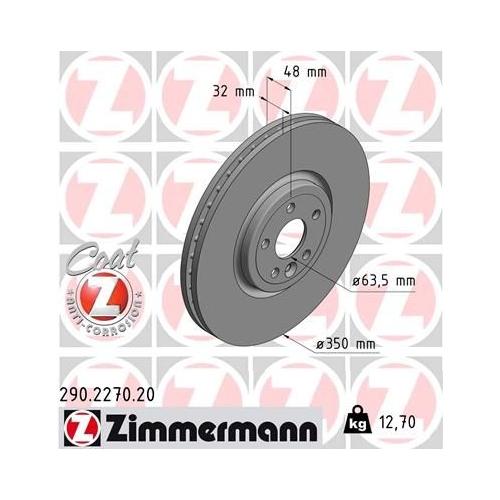 ZIMMERMANN Brake Disc 290.2270.20