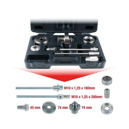 KS TOOLS Silent bearing tool set for VAG Front axle consoles, 8 pcs 700.1650
