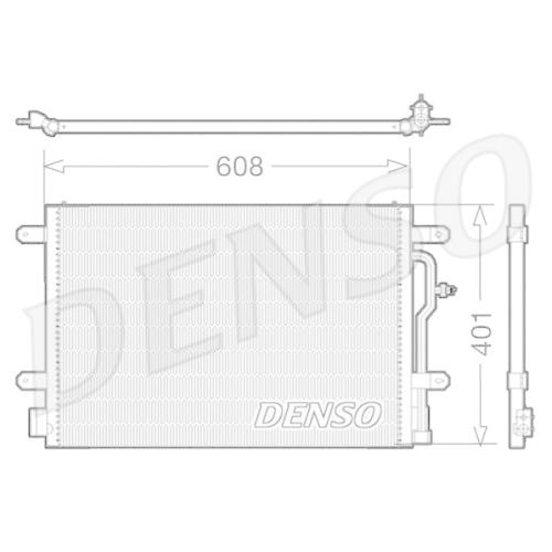 DENSO Kondensator, Klimaanlage DCN02012