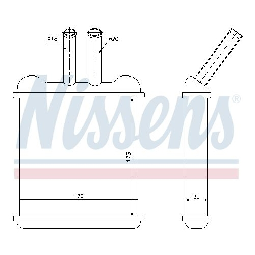 Heat Exchanger, interior heating NISSENS 76502 DAEWOO