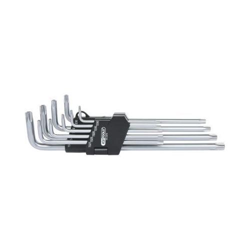 KS TOOLS Five star profile tamperproof key wrench set, long, 9 pcs 151.2470
