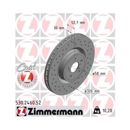 ZIMMERMANN Brake Disc 530.2460.52
