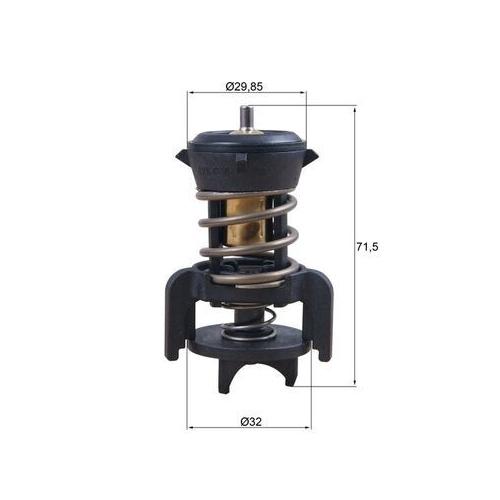 Thermostat, coolant MAHLE TX 251 94D AUDI VAG CUPRA