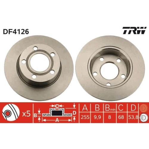 Brake Disc TRW DF4126 AUDI