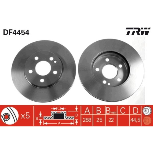 Brake Disc TRW DF4454 MERCEDES-BENZ