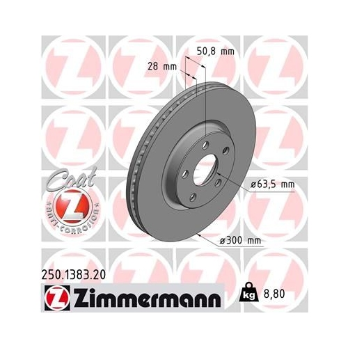 ZIMMERMANN Brake Disc 250.1383.20
