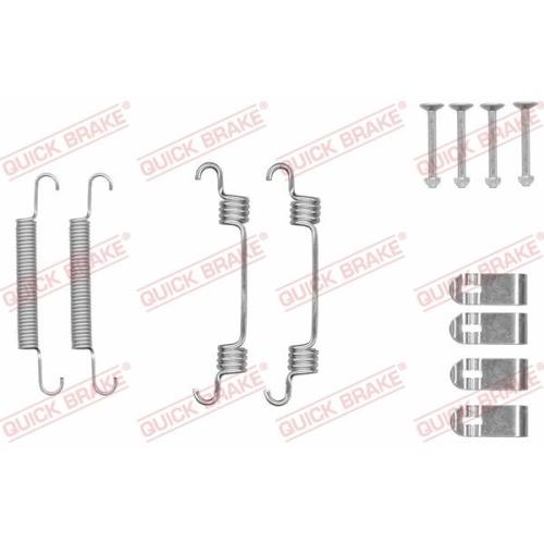 Accessory Kit, parking brake shoes QUICK BRAKE 105-0044