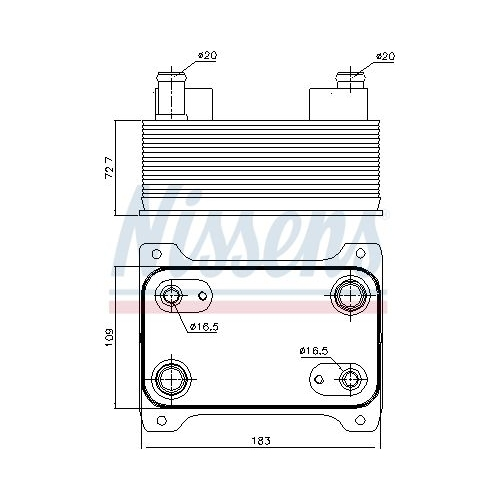 Oil Cooler, automatic transmission NISSENS 90747 AUDI VW