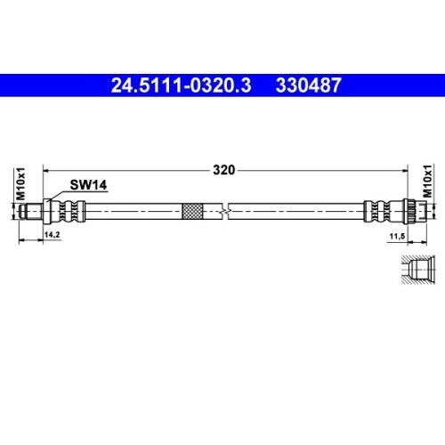 Brake Hose ATE 24.5111-0320.3 RENAULT