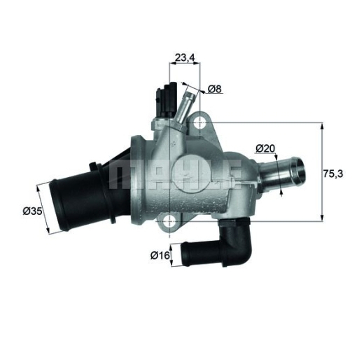 BEHR THERMOT-TRONIK Thermostat, coolant TI 174 88