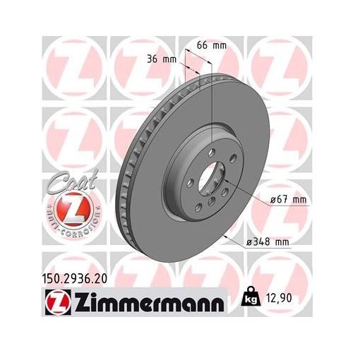 ZIMMERMANN Brake Disc 150.2936.20