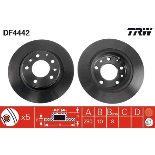 TRW Bremsscheibe DF4442