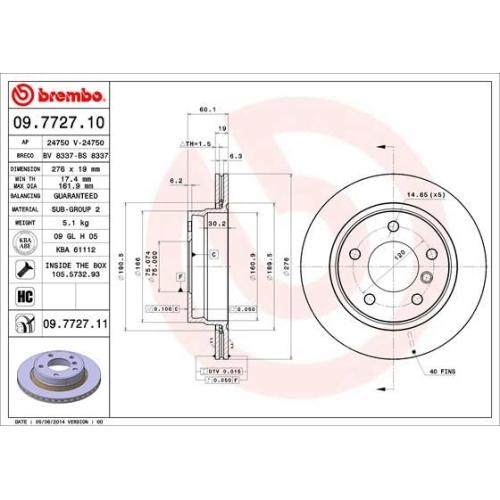 BREMBO Brake Disc 09.7727.11