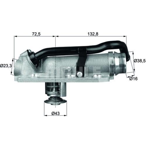 Thermostat, coolant BEHR TM 8 105 AUDI VAG CUPRA