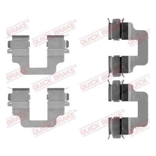 Accessory Kit, disc brake pad QUICK BRAKE 109-1712