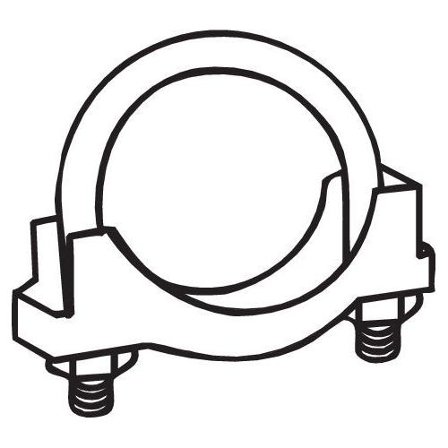 Klemmstück, Abgasanlage BOSAL 250-158 CHRYSLER FORD