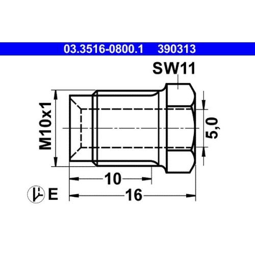 Überwurfschraube ATE 03.3516-0800.1
