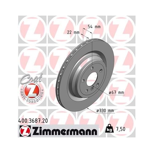 ZIMMERMANN Brake Disc 400.3687.20