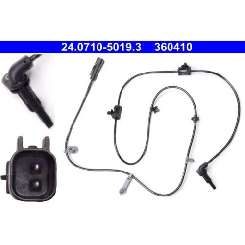 Sensor, wheel speed ATE 24.0710-5019.3 OPEL VAUXHALL