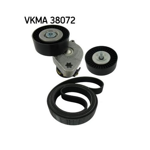 V-Ribbed Belt Set SKF VKMA 38072 MERCEDES-BENZ