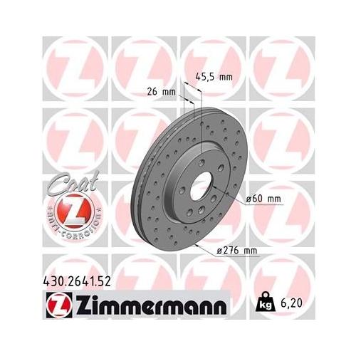 ZIMMERMANN Brake Disc 430.2641.52