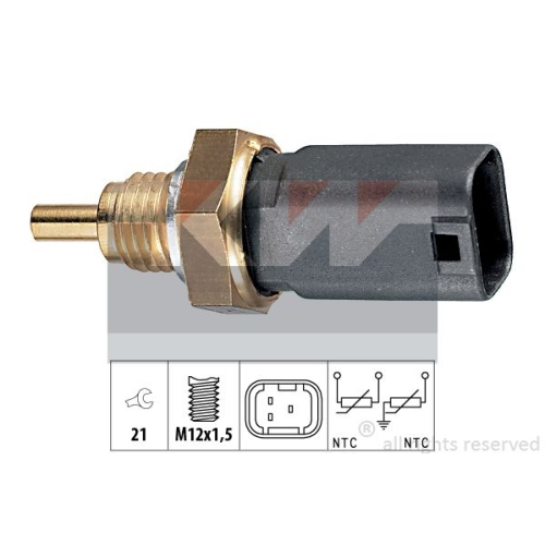 Sensor, coolant temperature KW 530 273 Made in Italy - OE Equivalent