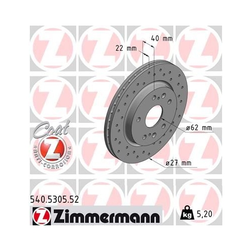 ZIMMERMANN Brake Disc 540.5305.52