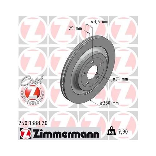 ZIMMERMANN Brake Disc 250.1388.20