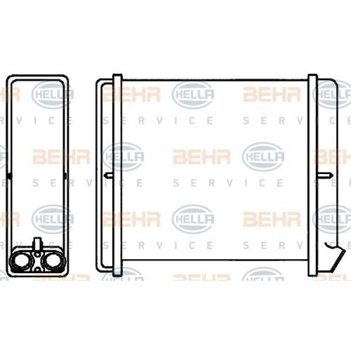 Heat Exchanger, interior heating HELLA 8FH 351 313-671 OPEL