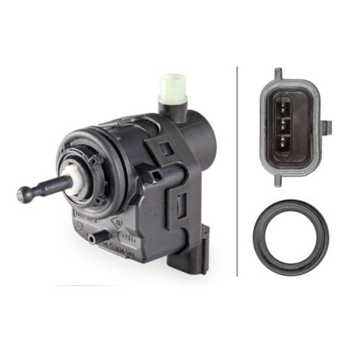 Control, headlight range adjustment HELLA 6NM 007 878-561 RENAULT