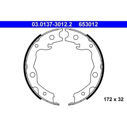 ATE Brake Shoe Set, parking brake 03.0137-3012.2