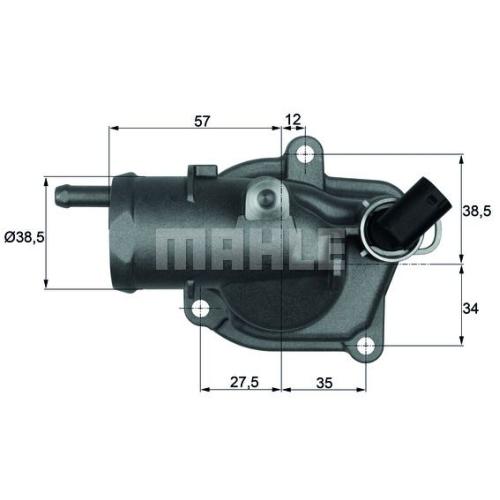 BEHR THERMOT-TRONIK Thermostat, coolant TI 31 92