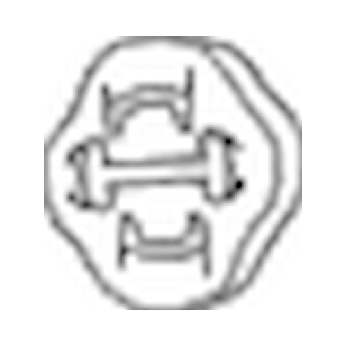 BOSAL Anschlagpuffer, Schalldämpfer 255-853