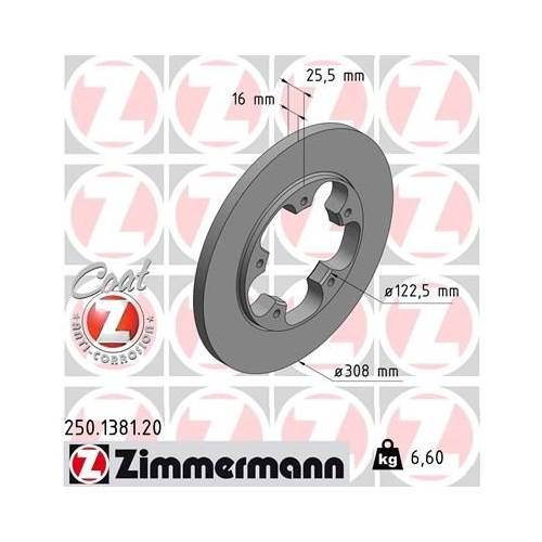 ZIMMERMANN Brake Disc 250.1381.20