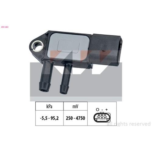 Pressure Sensor, brake booster KW 493 263 Made in Italy - OE Equivalent AUDI VW