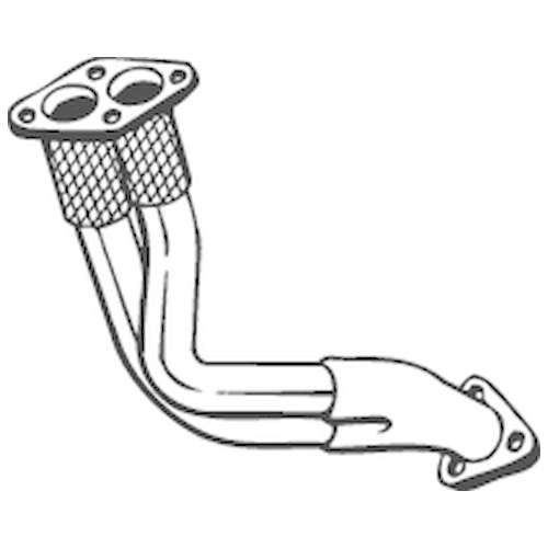 BOSAL Exhaust Pipe 753-517